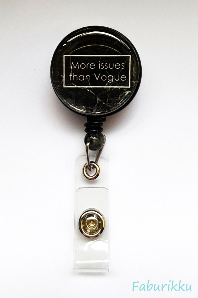 Quotes Vogue Clip-On Badge Reel
