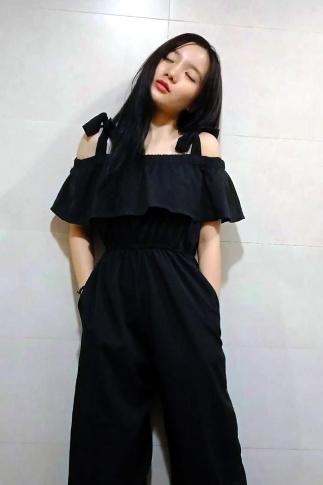 Ribbon Strap Off Shoulder Jumpsuit Black