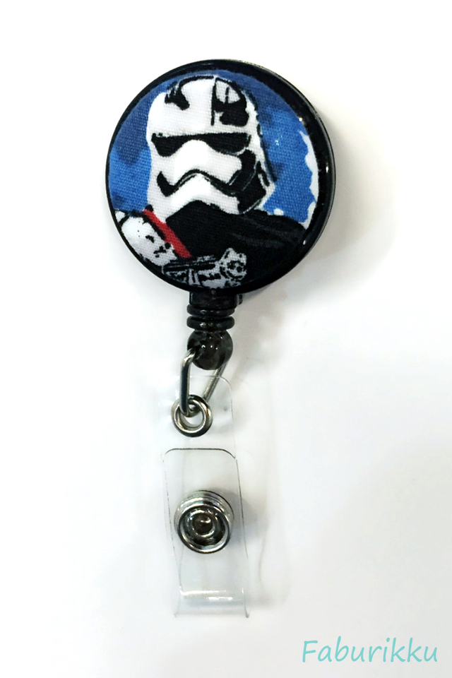 Starwars BlackTropper Clip-On Badge Reel