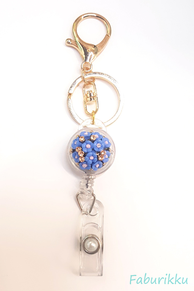 Periwinkle Bouquet Jewel Exclusive Hook On BadgeReel