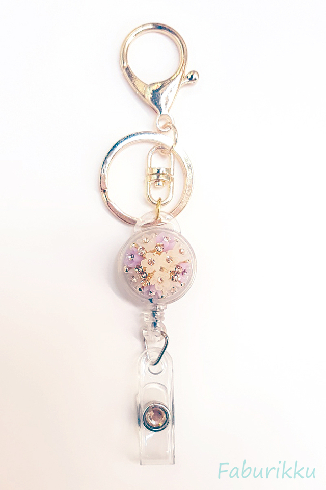 Diamond Lilac Bouquet Jewel Exclusive Hook On BadgeReel