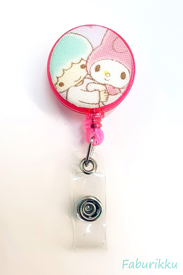 Kiki n Melody Clip-On Badge Reel