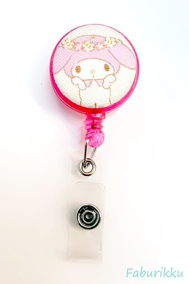 My Melody Crown Clip-On Badge Reel