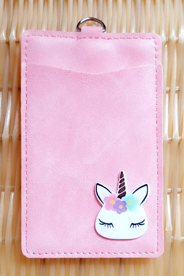 Pink Unicorn Premium Card Portrait
