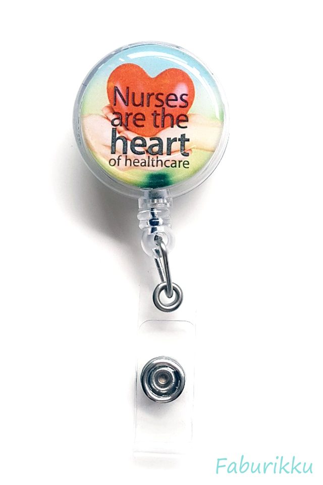 Quotes NurseHeart Clip-On Badge Reel