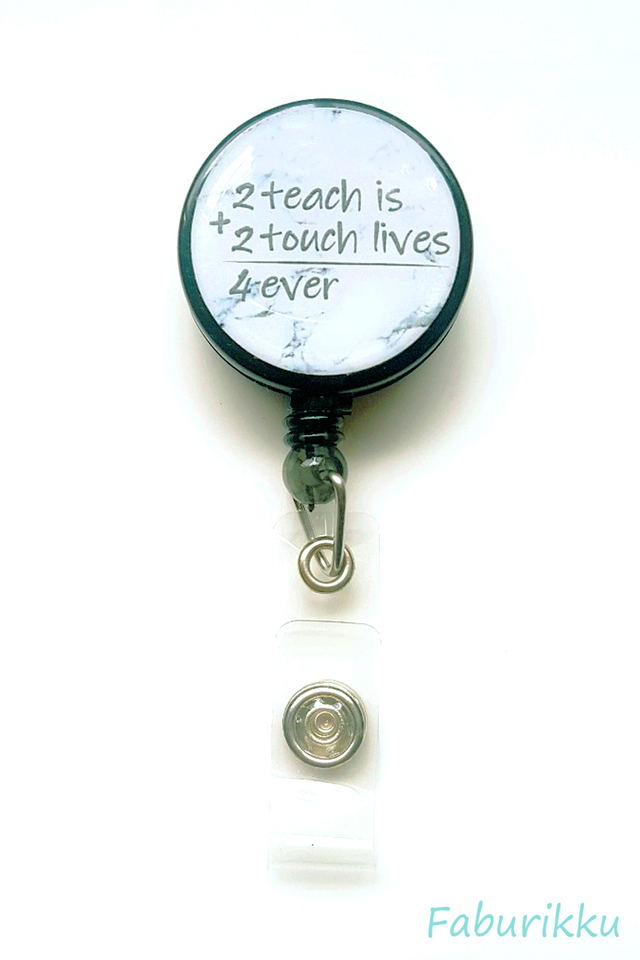 Quotes Teacher2Teach Clip-On Badge Reel