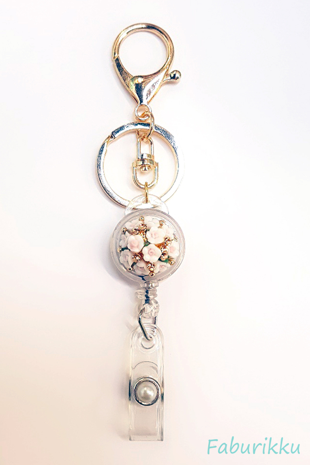 White Bouquet Jewel Exclusive Hook On BadgeReel