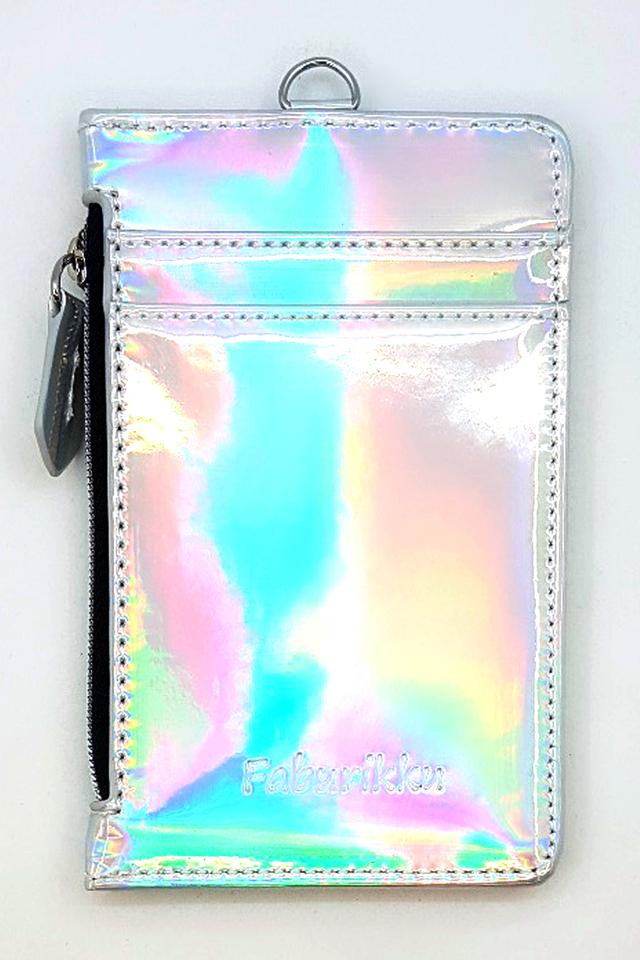 Hologram Zip Premium Cardholder Portrait