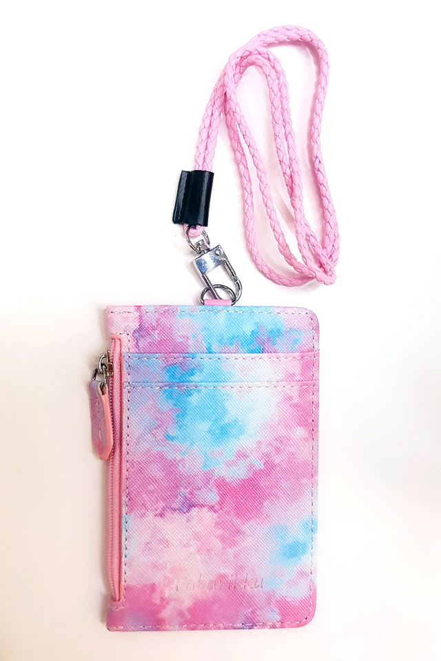 Watercolour Zip Cardholder with Lanyard Set