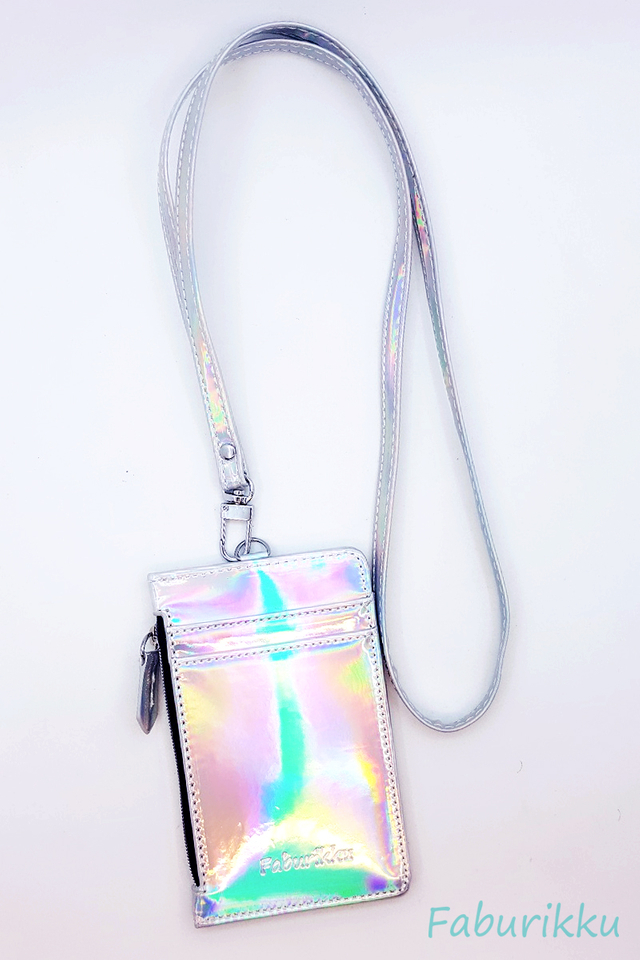 Hologram Zip Cardholder With Hologram Lanyard Set