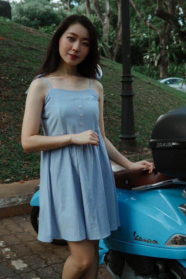 Linen Button Babydoll Dress (5 Colours)
