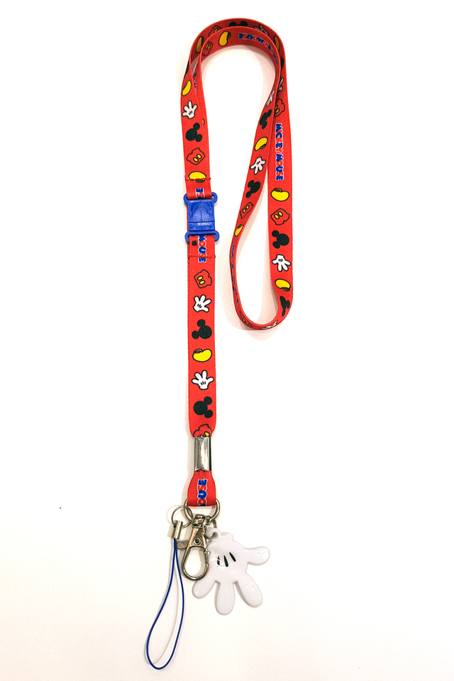 Mickey Red Soft Nylon Deluxe Lanyard