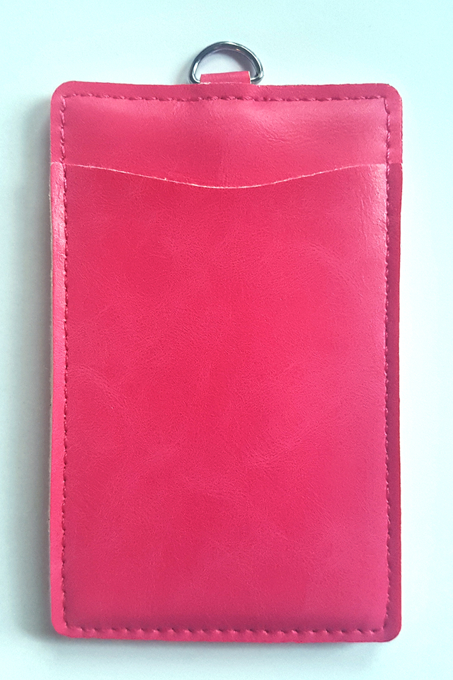 Puffy Deluxe Cardholder Dark Pink