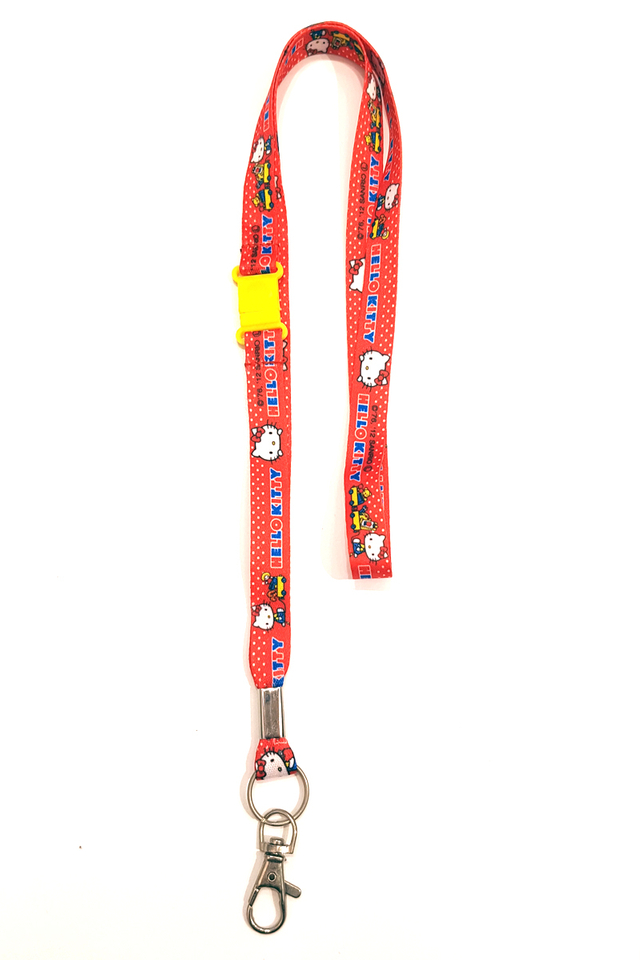 Red Hello Kitty Soft Nylon Deluxe Lanyard