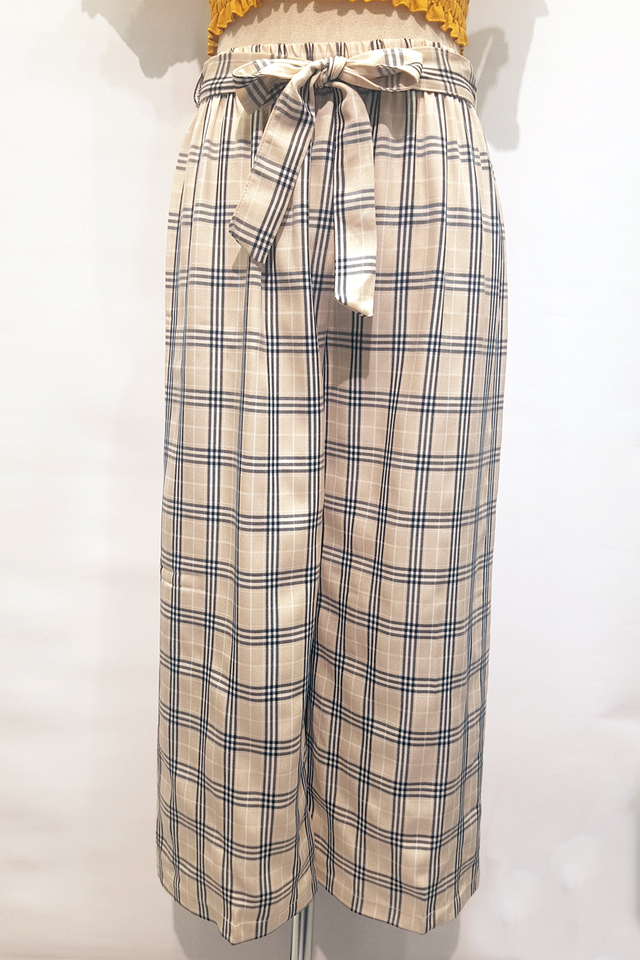 Tartan Relax Fit Pants (3 Colours)