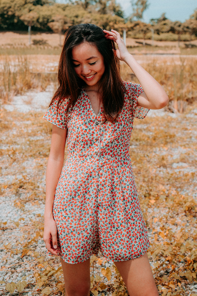 Tulip Button Romper (3 Colours)