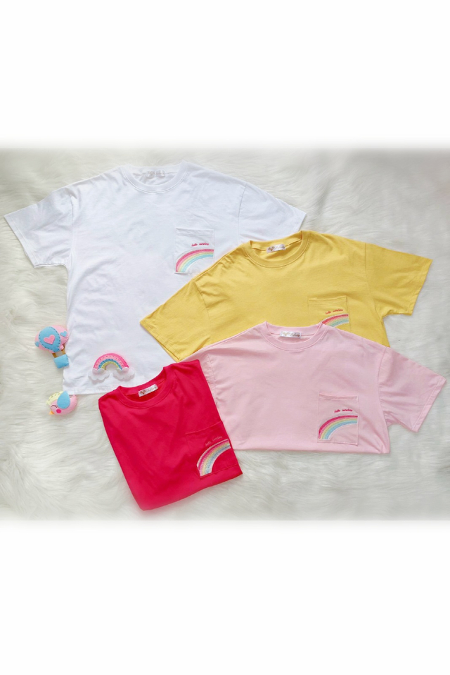 Hello Rainbow Tee (3 Colours)