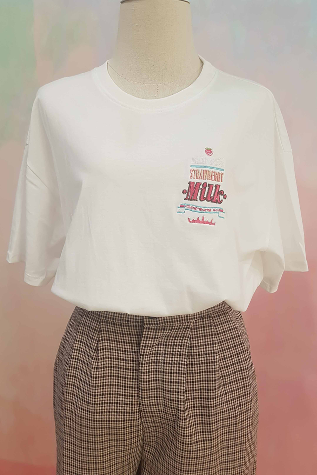 Milk Strawberry Tee (3 Colours)