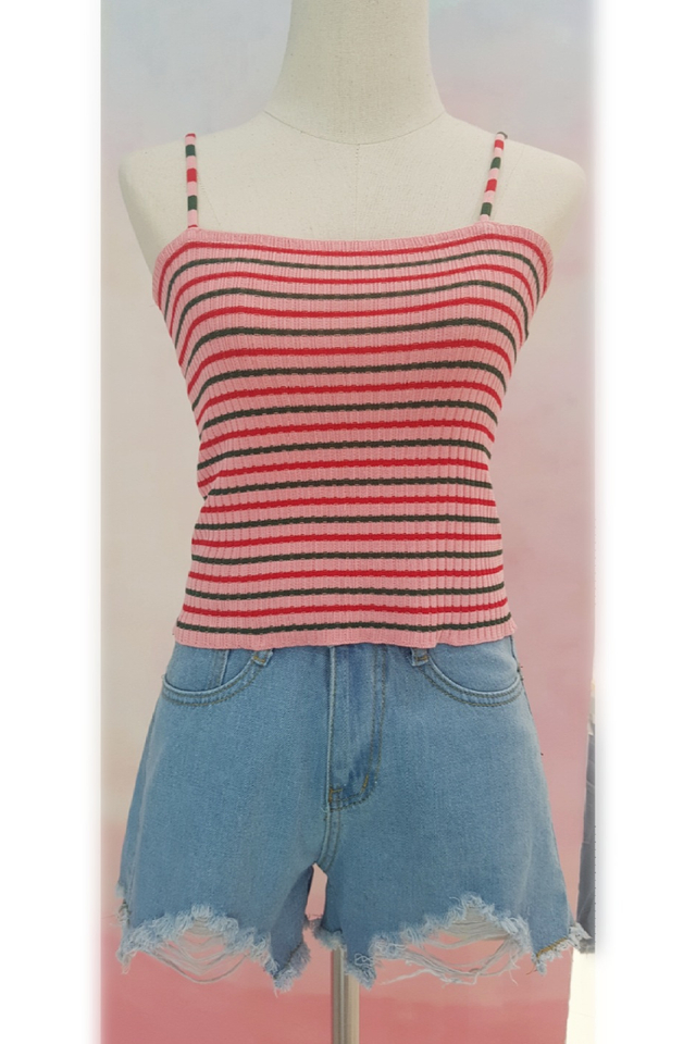 Colour Stripes Strap Top (5 colours)