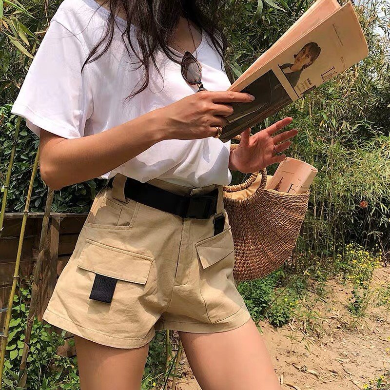 Utility Buckle Belt Shorts (3 colours)