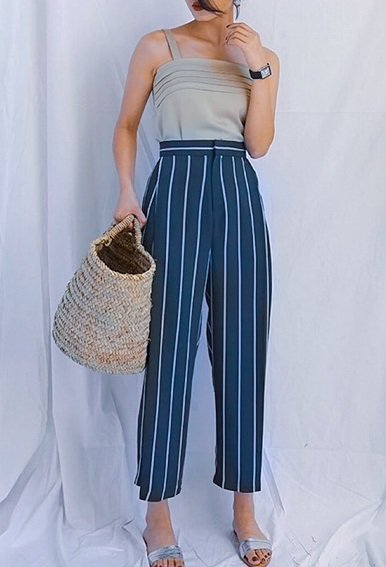 Stripe Wide Leg Pants (4 Colours)