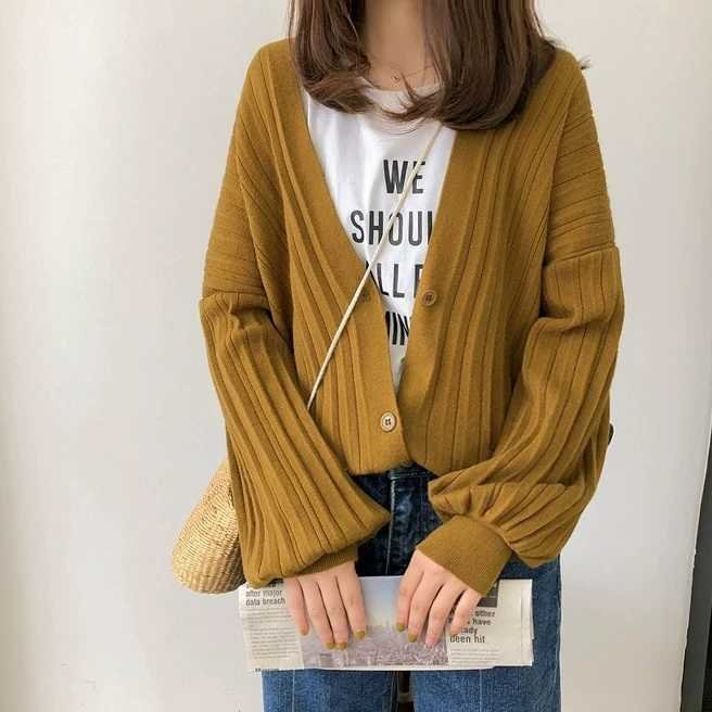 Pleat Knit Cardigan (2 colours)