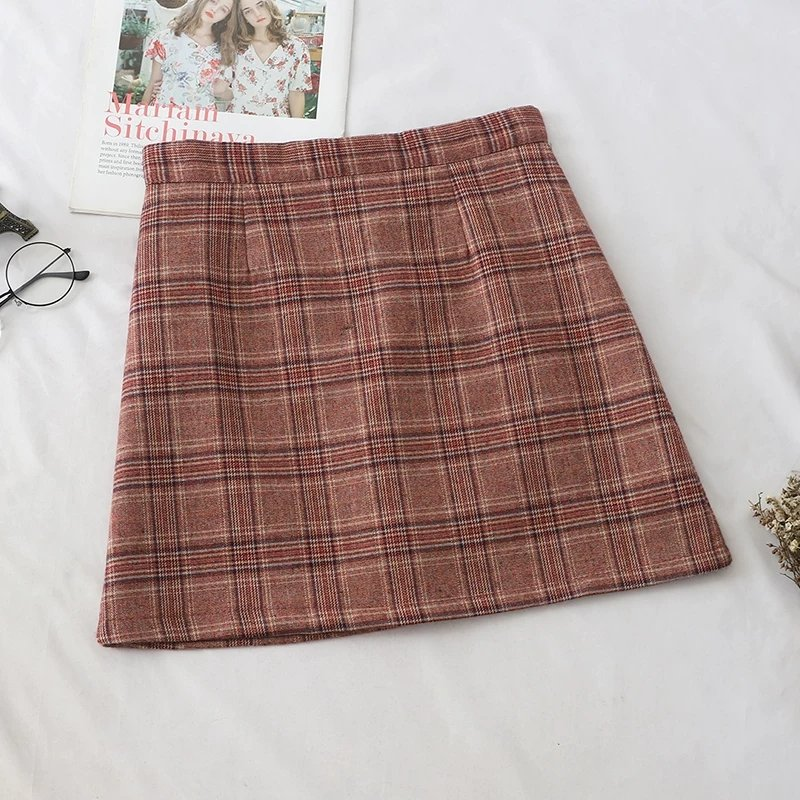 Dantelle Check Skirt (2 colours)