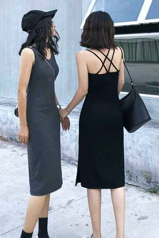 Cross Back Midi Dress (2 colours)