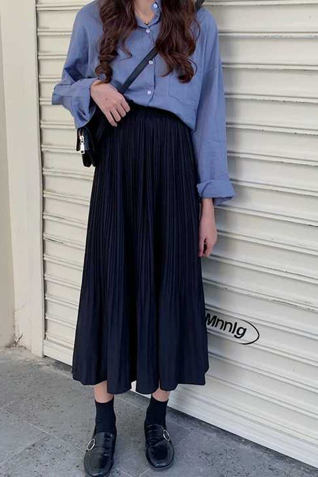 Pleated Midi Skirt (2 Colours)