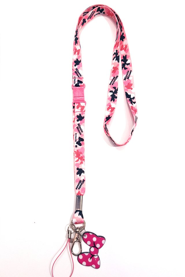 Minnie Pink Soft Nylon Deluxe Lanyard
