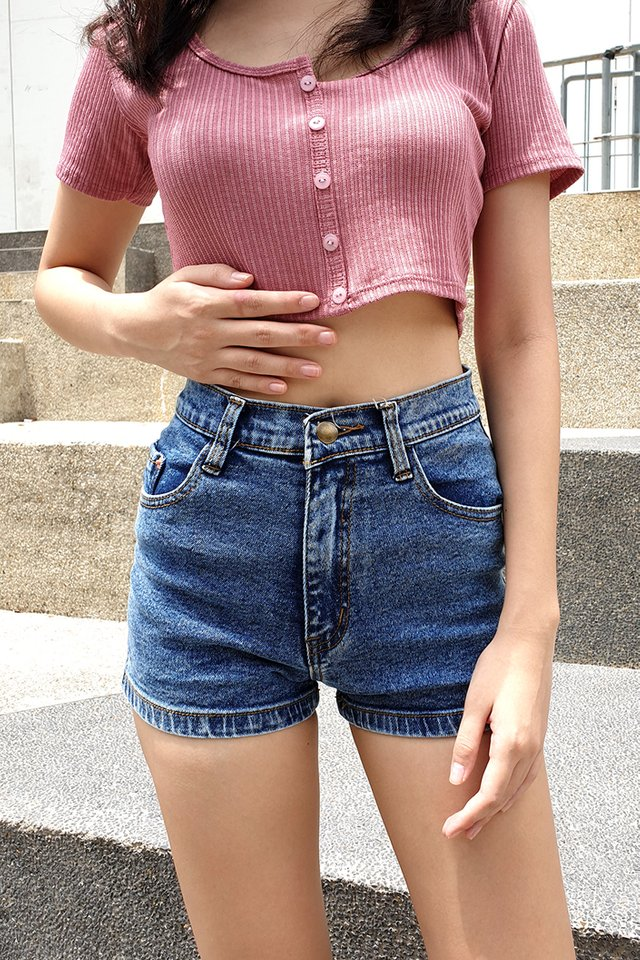 Stretch Straight Denim Shorts (4 Colours)