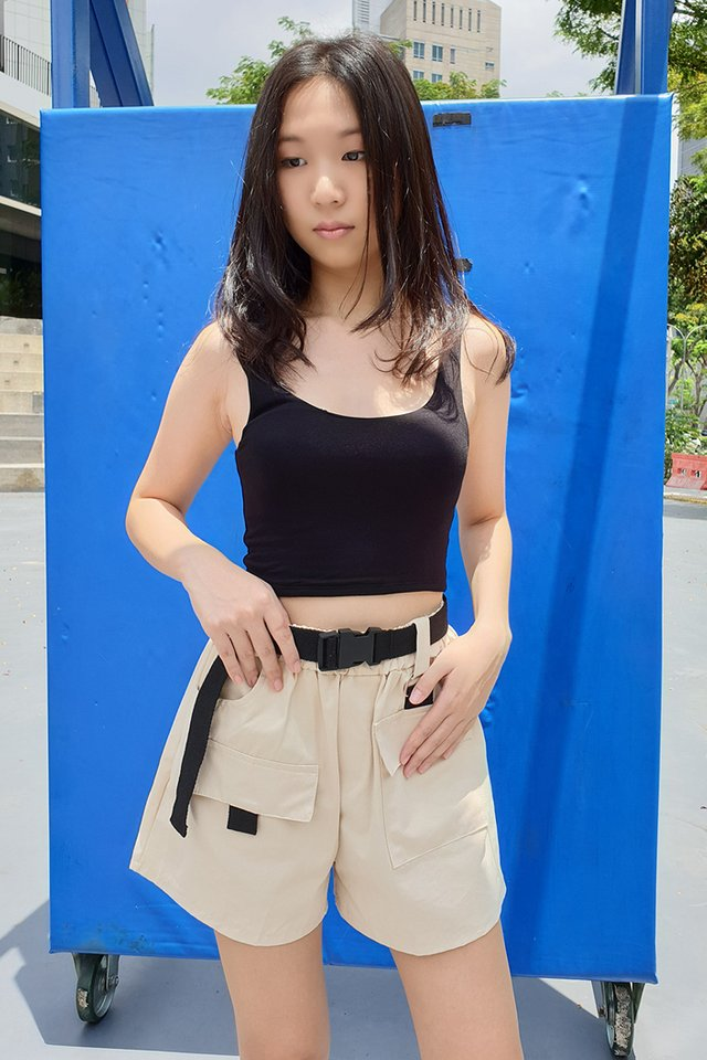Utility Buckle Belt Shorts (4 colours)