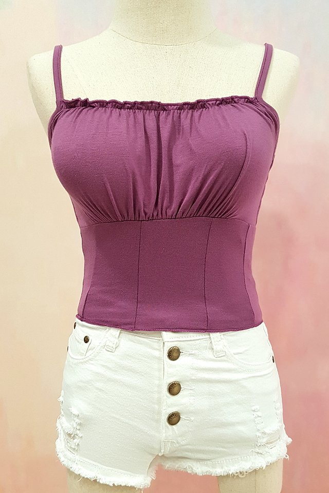 Bustier Ruffle Strap Top (4 Colours)