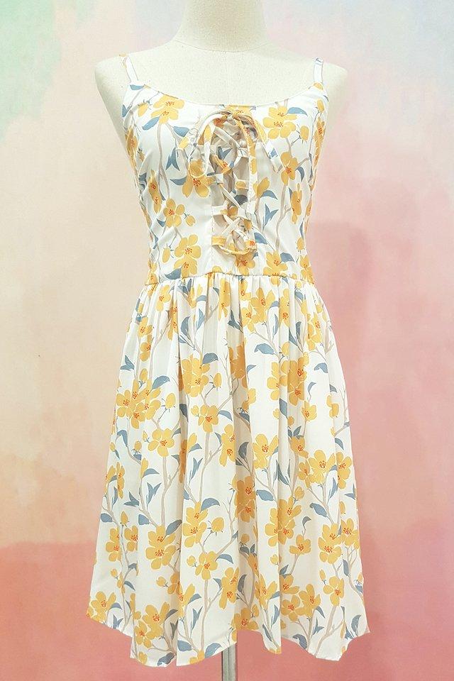 Lily Lace Up Dress (2 colours)