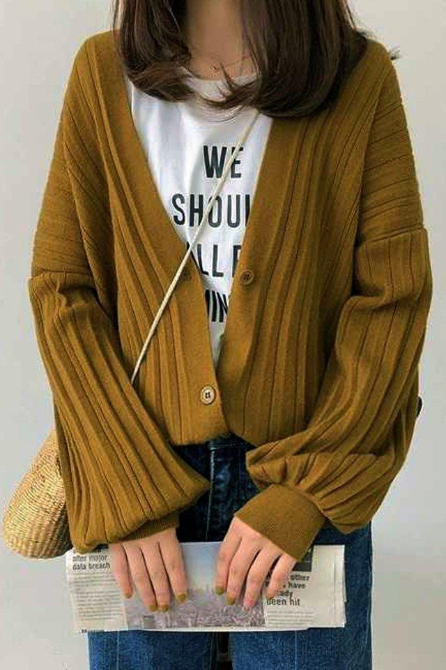Pleat Knit Cardigan (2 colours)