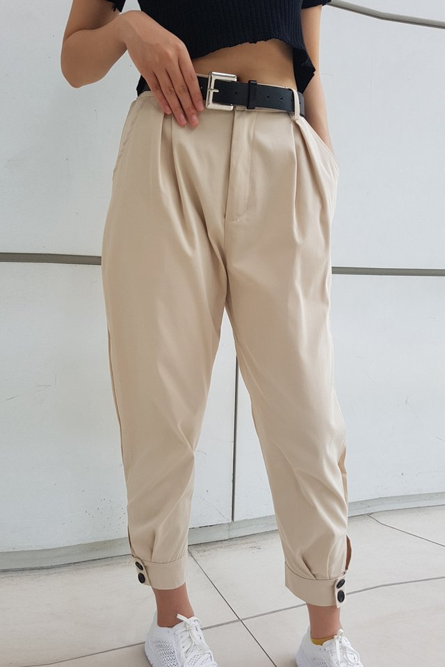 Cargo Cuff Button Pants (4 colours)