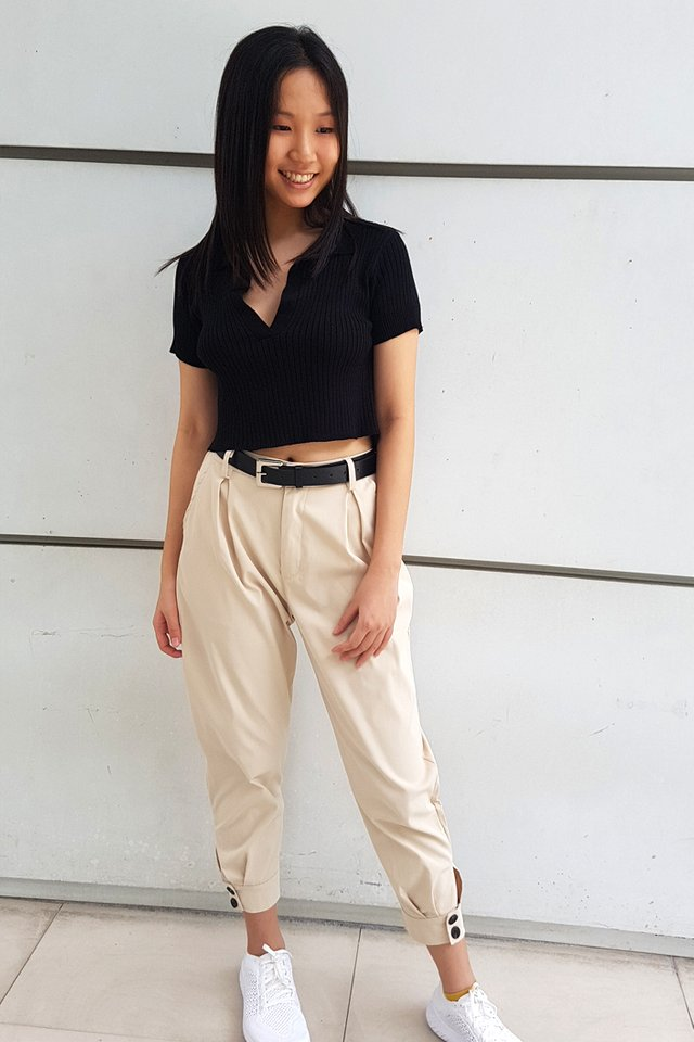 Cargo Cuff Button Pants (4 colours)