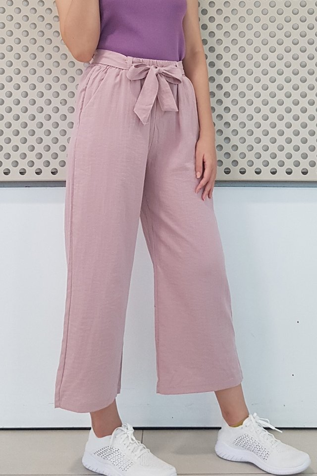Cotton Linen Ribbon Sash Pants (5 colours)