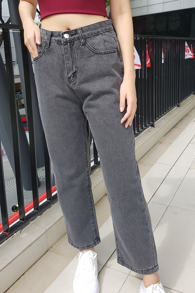 Margie Denim Boyfriend Jeans (Acid Grey)
