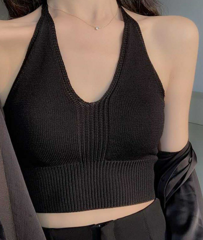Voile Knit Halter Top (3 Colours)