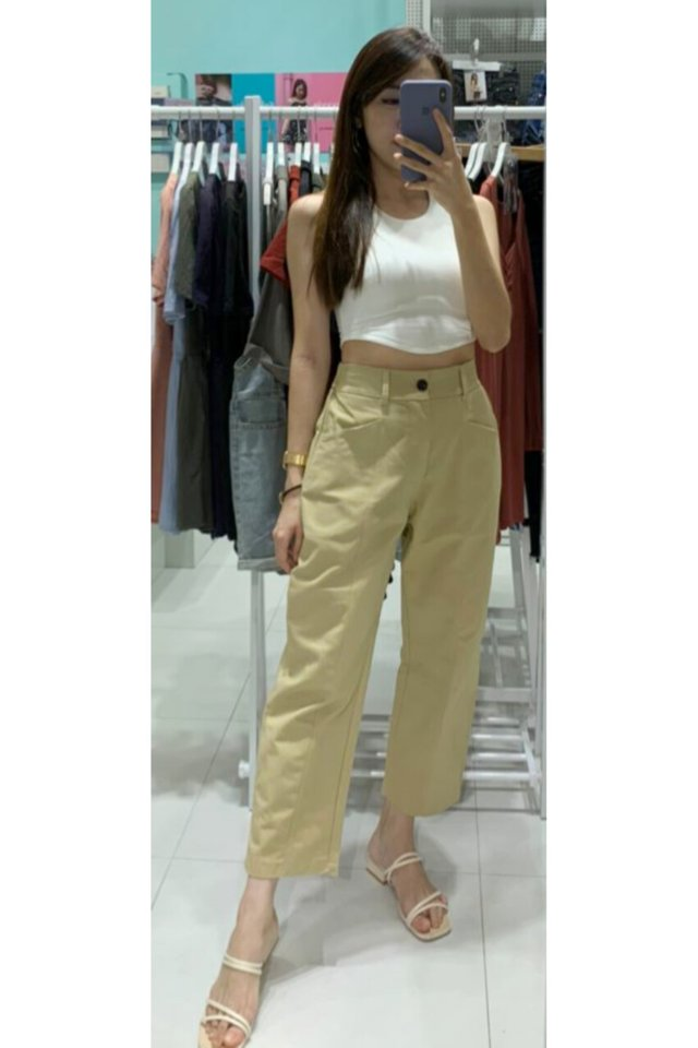 Jean Pleat Straight Pants (3 colours)