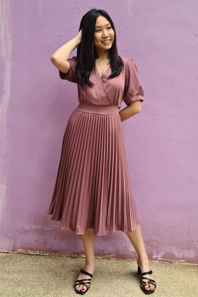 Angela Pleated Midi Dress (3 Colours)