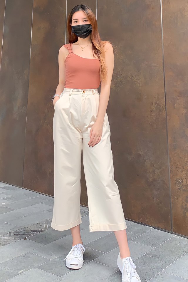 Wide Leg Fold Hem Pants (5 colours)