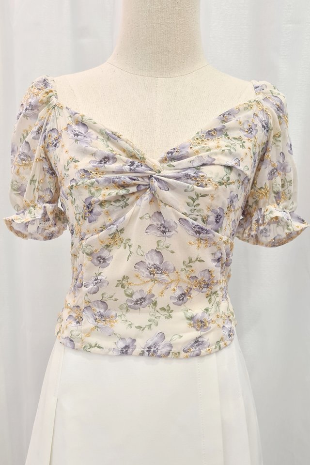 Floral Embroidery Top (2 colours)